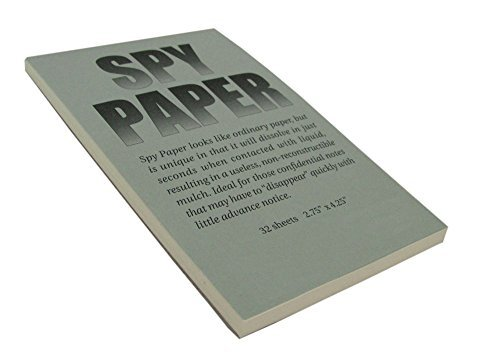 Disappearing Spy Paper Dissolving Note Pad Letter Head