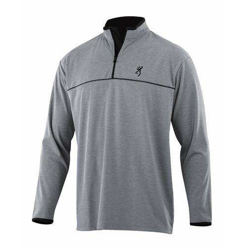 Browning Highline 1/4 Zip Shirt, Grey, Large