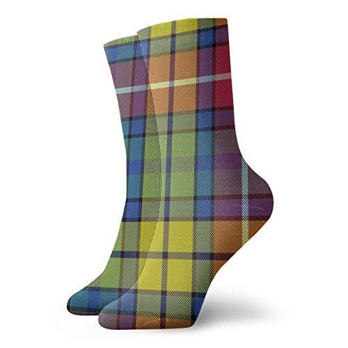 Buchanan Ancient Tartan Crew Socks Casual Funny For Sports Boot Hiking Running Etc.