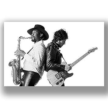 CANVAS Bruce Springsteen Singing Art print POSTER