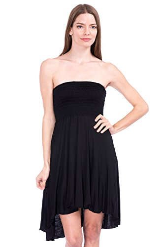 high low black and gold dress - 4
