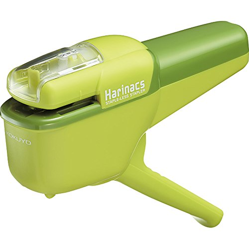 Kokuyo Harinacs Japanese Stapleless Stapler Ten-sheet binding Green SLN-MSH110G