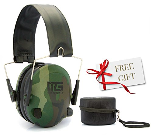 Best Sport Electronic Ear Muffs For Shooting & Hunting - Noise Cancelling Hearing & Ear Safety Protection Compact Folding Earmuffs Includes FREE Hard Shell Case, Not Plugs or Earplugs (Wedding Shooting Target compare prices)