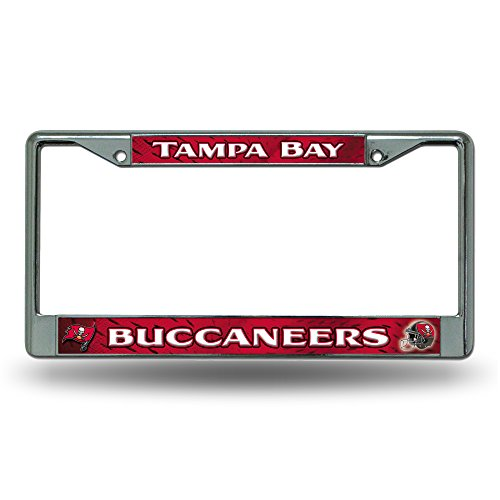 NFL Tampa Bay Buccaneers Chrome Licensed Plate Frame ()