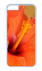 MOKSHOP Adorable hibiscus flower Hard Case Protective Shell Cell Phone Cover For Apple Iphone 6 Plus (5.5 Inch) - PC White