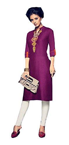 vestimentaire la Soie Violet taille Boho Top pour plus tunique Jayayamala tenue Femmes Tunique kurti brode Coton wgOxOUZqC