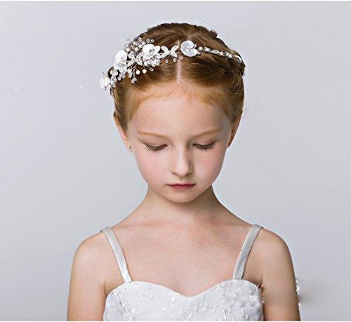 71341afcb3f20 DreamYo髪飾りカチューシャ 子供 発表会 ジュニア フォーマル 花びら ヘアアクセサリー入学式 卒業式