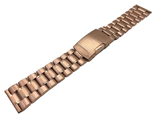 Bandsteel-22mm-Rose-Gold-Stainless-Steel-316L-Watch-Band-Stainless-Steel-Connector-Pins-Included