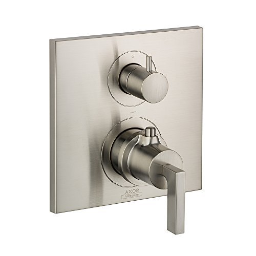 (AXOR 39720821 Citterio Thermostatic Trim with Volume Control and Diverter, Lever Handle, Brushed Nickel by AXOR )