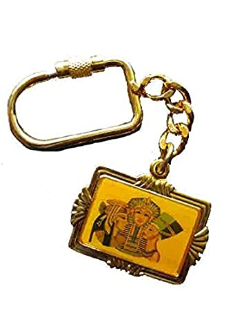 Amazon.com: Egipcio Llavero Llavero Scarab Faraón Nefertiti ...