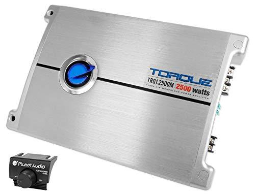 Planet Audio TRQ1.2500M 2500 Watt Mono Amplifier 2-ohm Car Audio Amp Class - Amp Torque Audio Planet