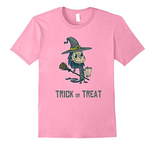 Mens Witch Trick or Treating - Cute Halloween Costume T Shirt Medium (Cute Last Minute Halloween Costumes For Work)