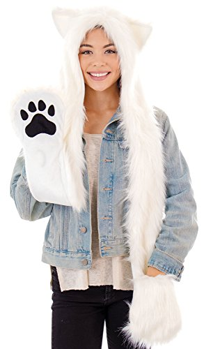 Caps Animal Beanie Hats with Scarf and Gloves, 1476_White Bear ()