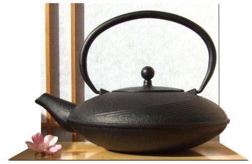 Tetsubin-Teekessel Linien-Design, Gusseisen, 1 l, Schwarz Gifts Of The Orient GOTO® 5060162543024