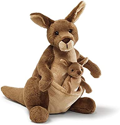 Gund Jirra Kangaroo With Removable Joey Stuffed Animal 25cm Soft Plush Toy
