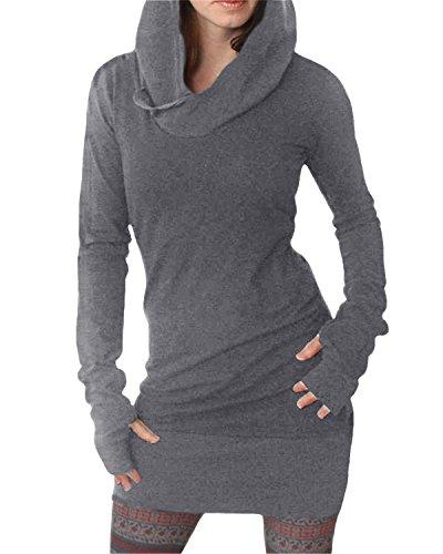 Auxo Mujer Sudaderas con Capucha Hoodie Largo Depotivo Mangas Largas Sweatshirt Hooded Shirt: Amazon.es: Ropa y accesorios