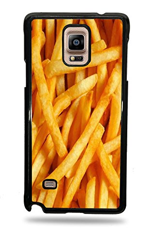 French Fries Black Silicone Phone Case for Galaxy Note 4