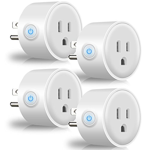 Smart Plug Wi-Fi Home Electrical Timing Outlet Remote Control Power Switch No Hub Required Compatible with Alexa and Google Assistant (4-Pack) by GROWNEER