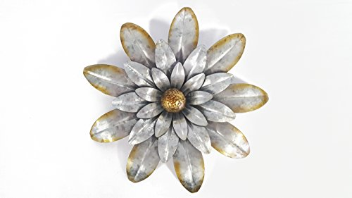 Galvanized Metal Flower Wall Decor by Everydecor