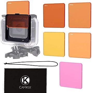 CamKix Juego de Filtro de Lentes de Buceo Compatible con GoPro Hero 6/5 Camara: Amazon.es: Electrónica