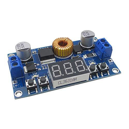 JacobsParts XL4015 5A DC-DC CNC Buck Step-Down Voltage Converter Power Regulator Board w/Voltmeter & Digital Controls