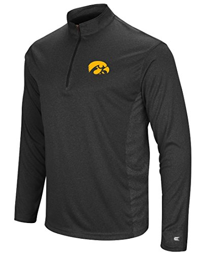 Iowa Hawkeyes NCAA Audible 1/4 Zip Pullover Men's L/S Wind Shirt
