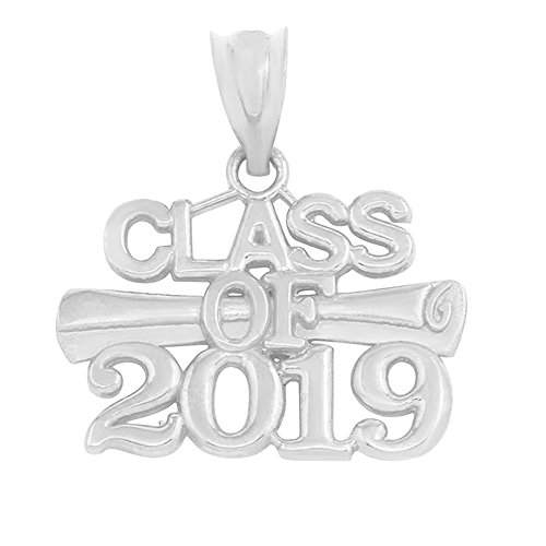 925 Sterling Silver Diploma Charm Class of 2019 Graduation -