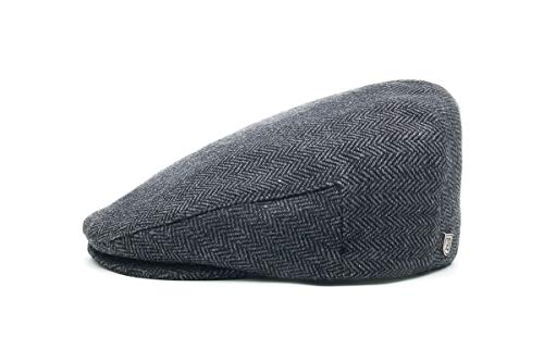 (Brixton Men's Hooligan Driver Snap Hat, Grey/black herringbone, X-Large)