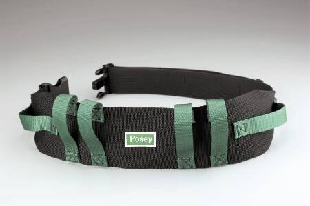 Gait Belt 55 Inch Green, Black Nylon by Posey Company