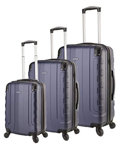 TravelCross Chicago Luggage 3 Piece Lightweight Spinner Set - Dark Blue