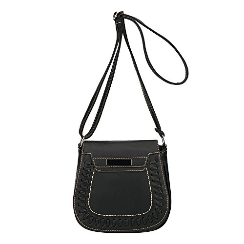 Messenger Color Phone Black Crossbody Women Bag Bag Vintage Pure Leather Bags Shoulder EqBO1Yw