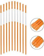 """FiberMarkers, 5/16""""*48"""", Pack Of 50, Orange Color, Reflective Snow Markers, Driveway Reflective Markers"""