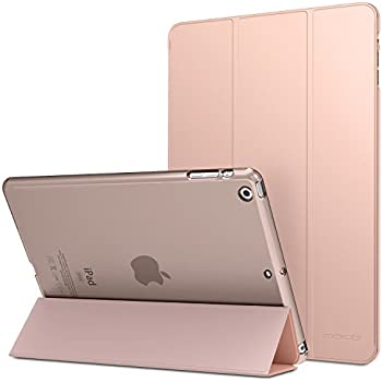 "MoKo iPad Air Case - Slim Lightweight Smart-shell Stand Cover with Translucent Frosted Back Protector for Apple iPad Air 9.7"" Tablet, Rose GOLD (with Auto Wake / Sleep, Not fit iPad Air 2)"