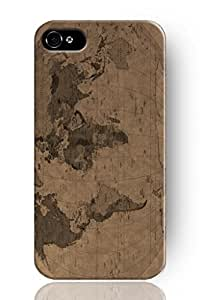 SPRAWL New Fashion Design Hard Skin Case Cover Shell for mobilephone Apple Iphone 4 4S -World Map