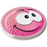 PINK SMILEY SMILE GOLF BALL MARKER.
