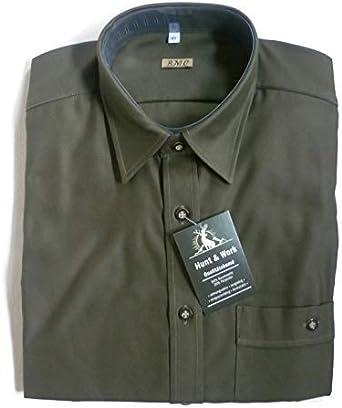 BMC - Camisa casual - para hombre verde oliva XXL/47: Amazon ...