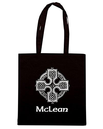 T-Shirtshock - Bolsa para la compra TIR0148 mclean celtic cross dark tshirt Negro