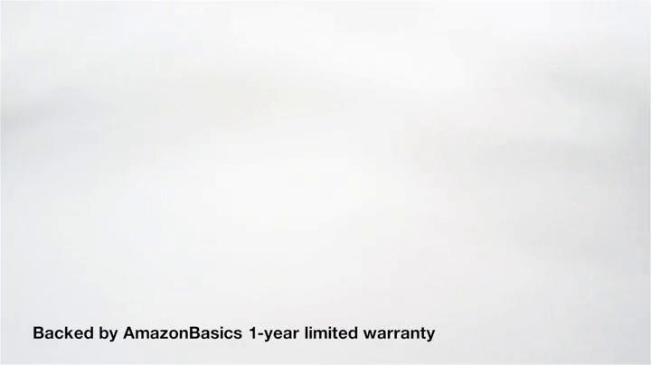 AmazonBasics Upholstered, Low-Back, Adjustable, Swivel Office Desk Chair, Black