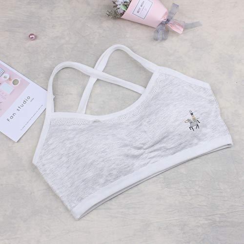 Luonita Kids Girls Teen Seamless Underwear Bra Vest Children Underclothes Sport Undies Clothes for 10-15 Years Old Girls
