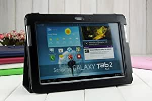 Aokdis New Fashion Leather Stand Cover for Samsung Galaxy Tab 2 10.1 P5100 P5110 P5113 (Black)