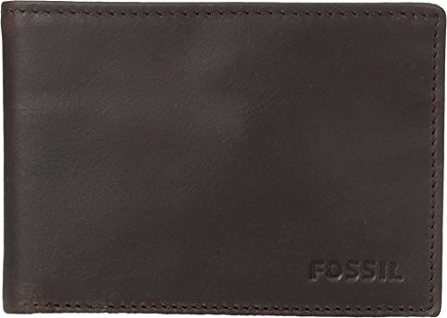Fossil Men's Adam Front Pocket Bi-fold, Black, One Size
