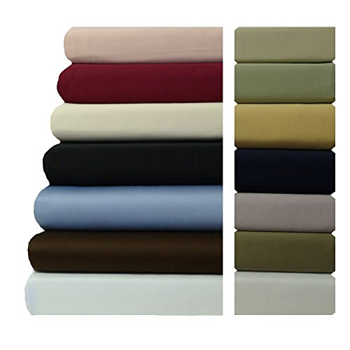 Solid Waterbed (Attached Waterbed Solid Sheets Queen Size 600TC 100% cotton- Burgundy)