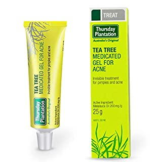 Thursday Plantation Tea Tree Medicated Gel For Acne Acne Removal Cream Skin Repairing Moisturizing Acne Spots Acne Treatment Blackhead Removing Cream, 25g