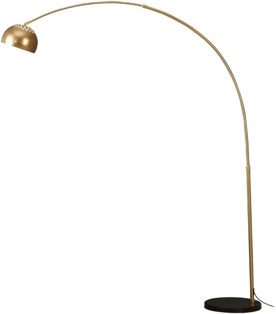 Stehlampe Vintage Stehleuchte Mit Lampenschirm In Gold Aus Metall