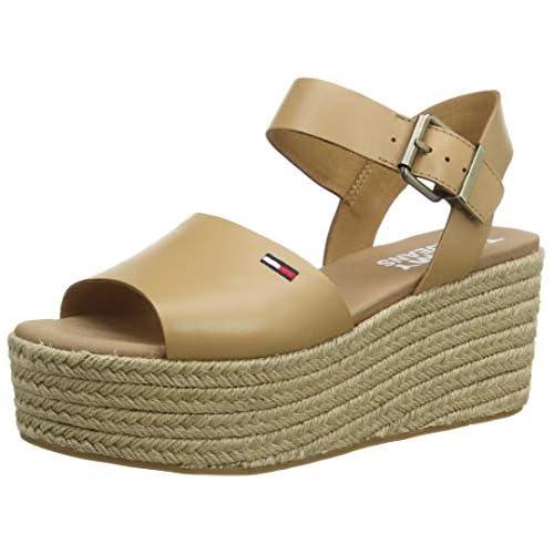 chollos oferta descuentos barato Tommy Hilfiger Natural Flatform Sandal Sandalias Punta Cerrada para Mujer Marrón Dusty Bronze Gqe 41 EU