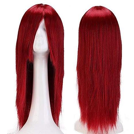 24 quot (60cm) Pelucas Disfraces Largas con Flequillo para Mujer Pelo  Natural Peluca Sintética 8a6651eaeb2a