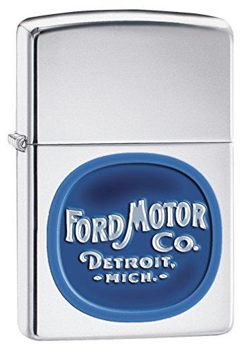 Zippo Custom Lighter: Vintage Ford Motor Co. Logo - High Polish Chrome 76167