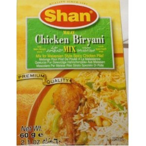 Shan Malay Chicken Biryani Mix 60g (Pack of 4) by Shan