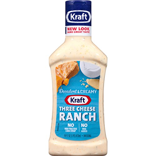 Kraft Three Cheese Ranch Dip & Dressing (16 oz Bottles, Pack of 6)