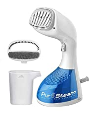 PurSteam 1400-Watt Steamer for Clothes, Wrinkle Remover, Fast Heat-up, Large Detachable Water Tank, Exact Measure Filler Cup and 2 in 1 Brush Included